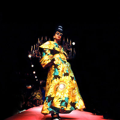 Christian Lacroix, Fall-Winter 1987-1988 Haute Couture collection show Paris..