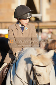 New Year's Meet of the Cottesmore Hunt in Uppingham