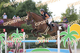 KREISLOVA Natalie (CZE) and THE LUX EFFECT during LAKE ARENA - The Summer Circuit II, CSI2*, GOOD BYE COMP, 140 cm, 2017 Augu...