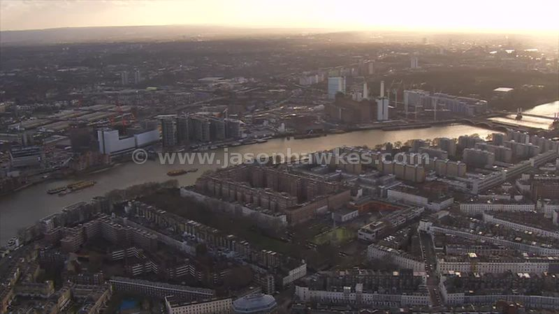 Aerial footage of Dolphin Square, Pimlico, London