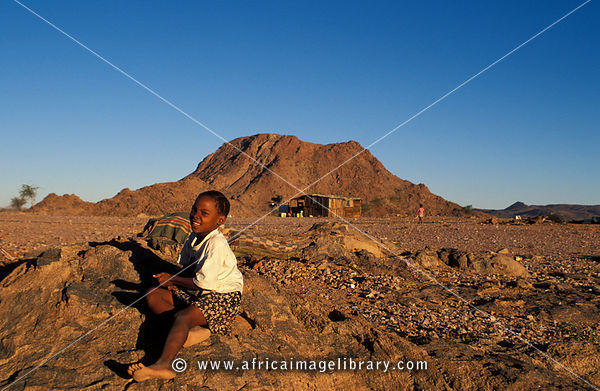 Nama girl, Riemvasmaak, Northern Cape, South Africa