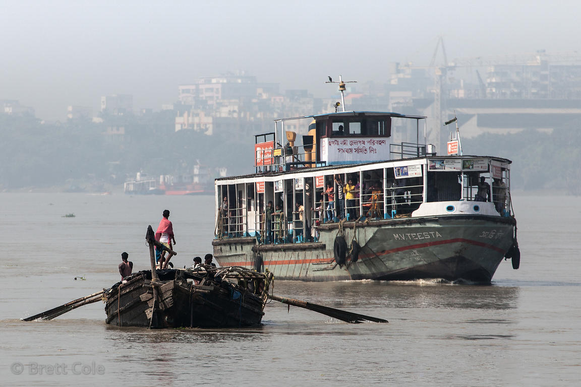 Ferry on the Hooghly RIver in Kolkata, India
