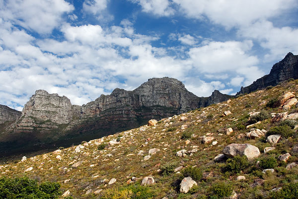 Beautiful mountain scenery in Table Mtn. National Park, near Cape Town, South Africa