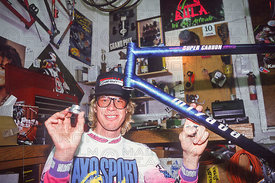 GREG HERBOLD IN HIS GARAGE AT HOME DURANGO COLORADO USA