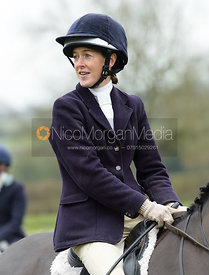Frankie Wyatt at the meet - The Cottesmore Hunt at Manor Farm