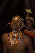 Samburu dancer, Samburu village,  Kenya
