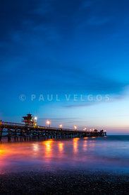 San Clemente Pier at Night Photo