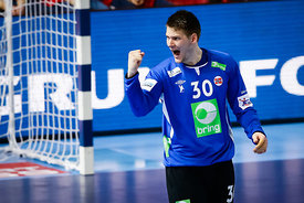 Torbjorn S.Bergerud during the EHF EURO Croatia 2018 - Preliminary round -  Group B - Norway vs Austria in Zatika Sports Cent...