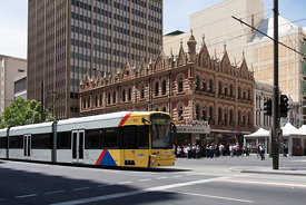 Tram on King William Street Adelaide