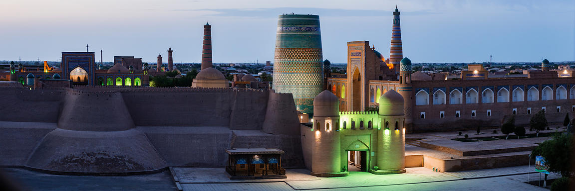 Elevated View of the South Gate of the Old Town of Khiva