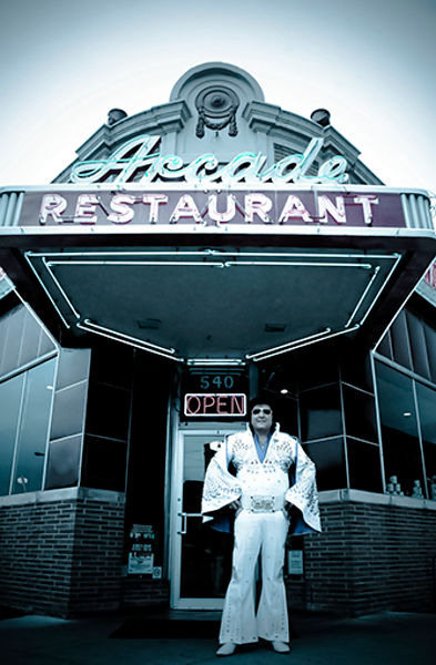 The Arcade Restaurant is located in Memphis, Tennessee.  In the past it was frequented by the late Elvis and Johnny Cash.  Th...