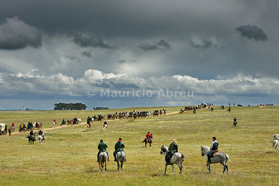 A horse pilgrimage in Alentejo. Horse people practice horsemanship as an expression of heritage, culture, and faith through pilgrimage on horseback. Viana do Alentejo, Portugal