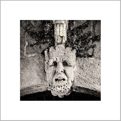 4th June 2014 - Mask - North Entrance  of  the Castle of the Princes of Biscari (1494 A.D.) - Acate, Sicily (Italy)