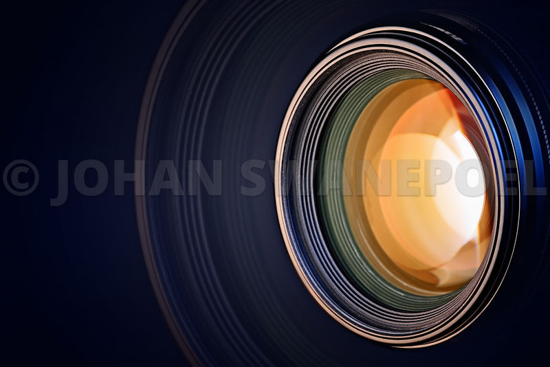 Camera lens background