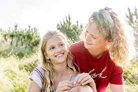 Danish mother and daughter in Klitmøller
