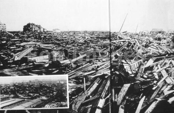 Galveston hurricane of 1900: wreckage