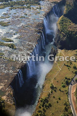 Victoria Falls (Mosi-oa-Tunya) from the air, Zambia & Zimbabwe