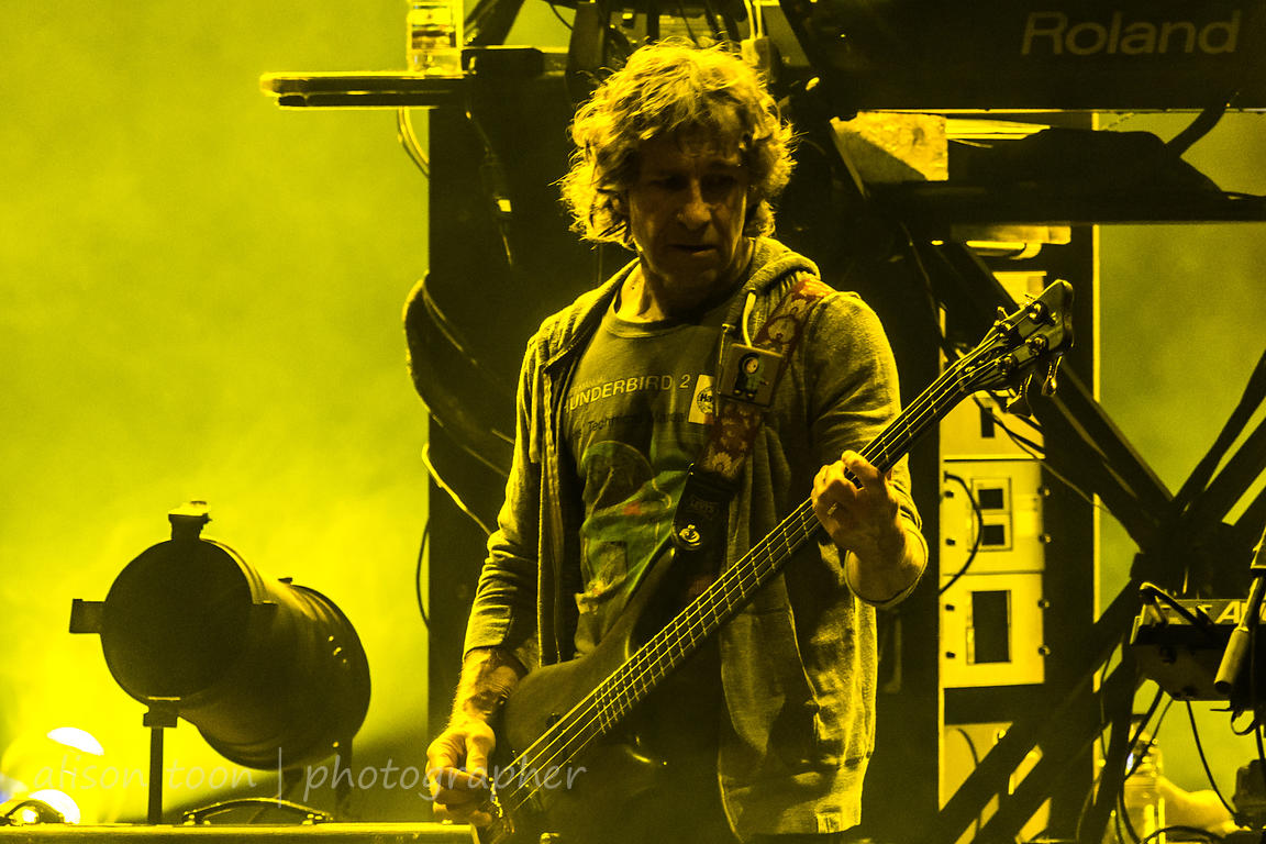 Pete Trewavas, bass, Marillion, Friday evening, Montreal, 2015
