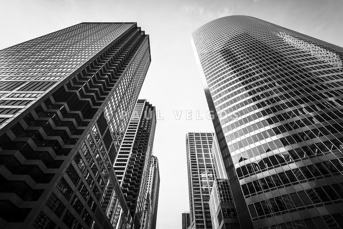 Chicago Buildings Black and White