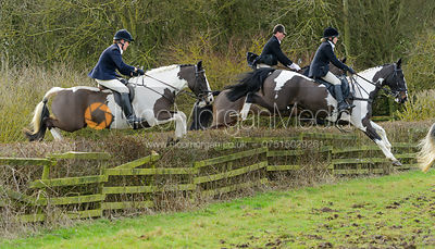 The Cottesmore Hunt at Town Park Farm 3/1