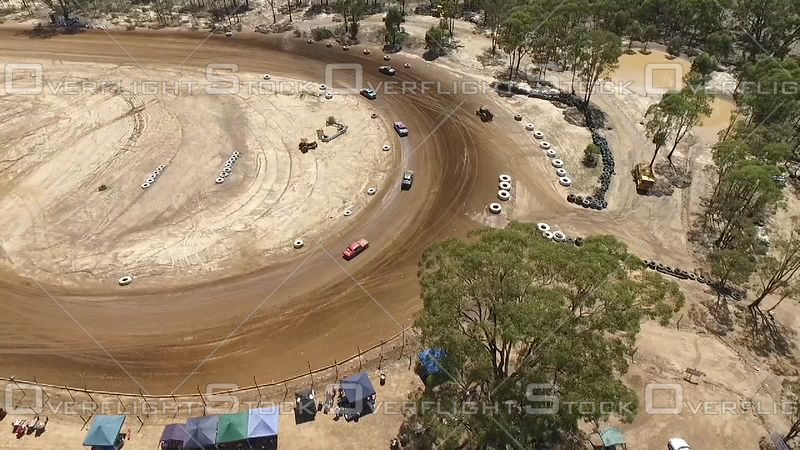 Dirt Track Car Race Bailieston Victoria Australia