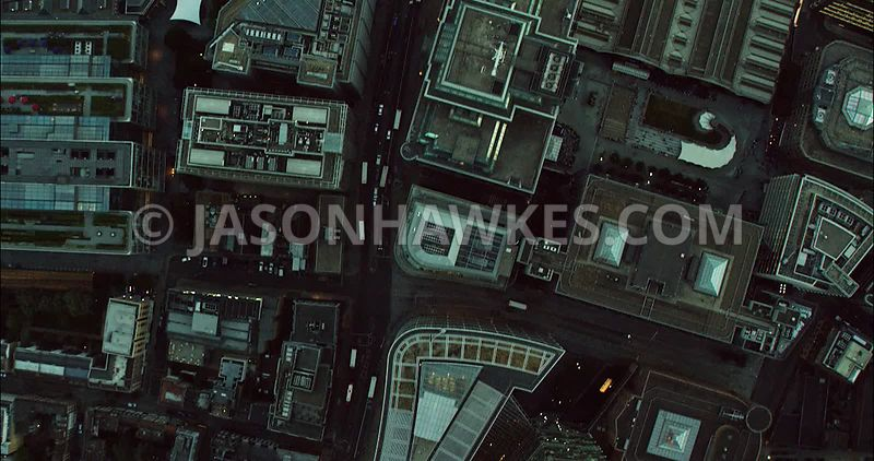 London Aerial Footage of Liverpool Street Station.