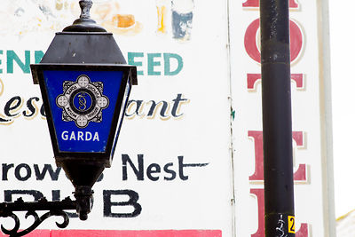 Garda (police) sign in Cong, Ireland
