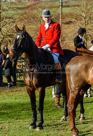 Alan Kasket at the meet. The Belvoir Hunt at Debdale Farm 10/11