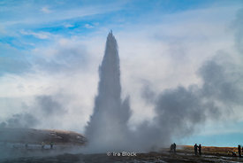 The erupting Geysir in southwestenr Iceland.