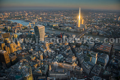 City of London, aerial view. London