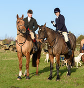 Sallyanne Brooksbank At the meet. The Cottesmore Hunt at Hill Top Farm 11/12