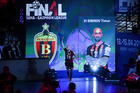 Timur Dibirov during the Final Tournament - Semi final match - Vardar vs Meshkov Brest - Final Four - SEHA - Gazprom league, ...