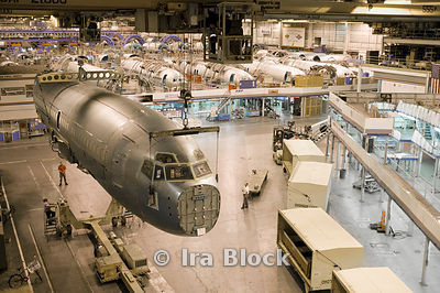 Boeing manufacturing plant in Wichita