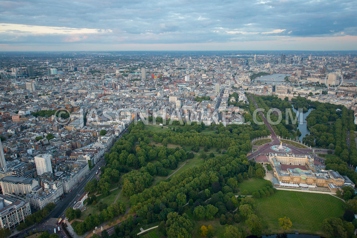 London. Aerial view of Buckingham Palace