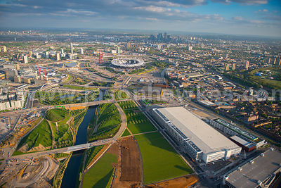 Aerial view of the QUEEN ELIZABETH OLYMPIC PARK, London