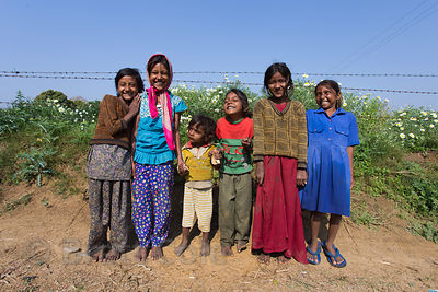 Girls on a flower farm, Doomara village, Rajasthan, India. This is one of my all-time favorite photos, as it perfectly captur...