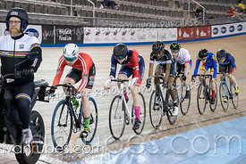 U17 Men Keirin 1/2 Final. Ontario Track Championships, March 3, 2019