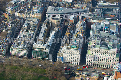 Mayfair aerial view, London
