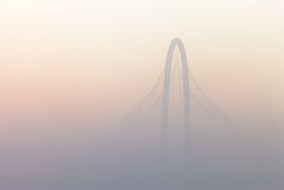 The Margaret Hunt Hill Bridge Emerging From the Fog