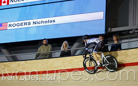 Men's omnium flying lap. Milton International Challenge, January 11, 2015