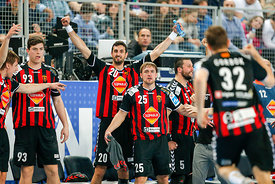 Mihajlo MARSENIĆ of Vardar, Ilija ABUTOVIĆ of Vardar, Luka CINDRIĆ of Vardar , Stojanche STOILOV of Vardar during the Final T...