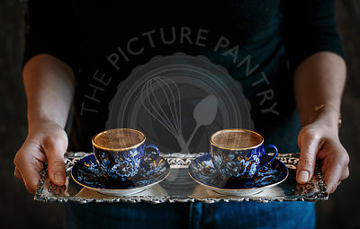 Turkish Coffee being served