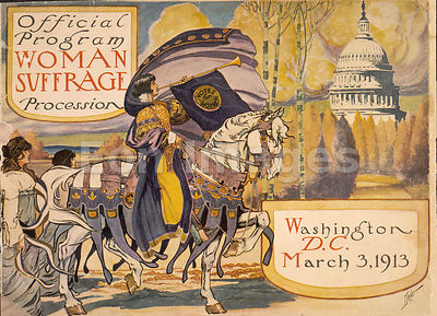 Woman suffrage march organized by NAWSA