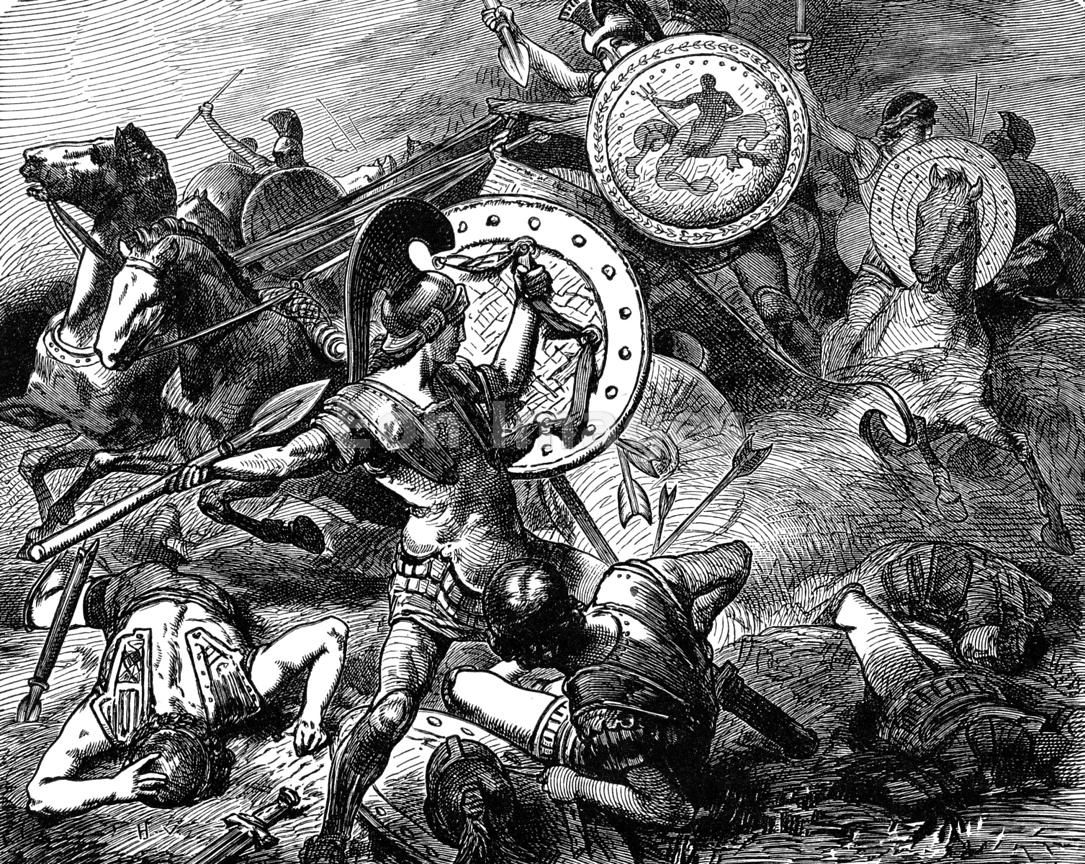 Epaminondas and Pelopidas at Battle of Mantineia