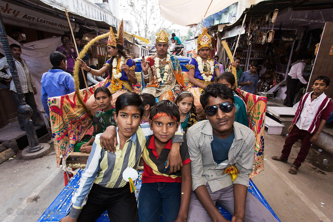 A parade on Shiva's birthday, Pushkar, Rajasthan, India