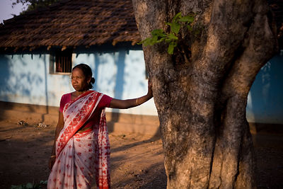 India - Orissa - A Tribal woman whose son was killed