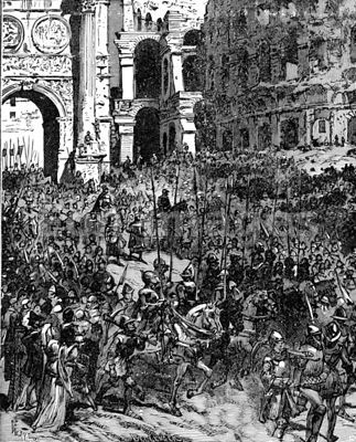Forces of Leo IX depart Rome