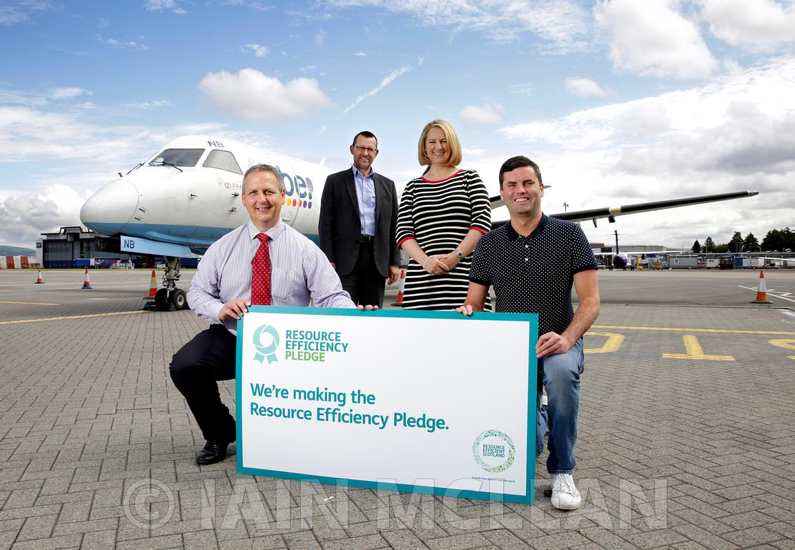 Glasgow Airport.14.7.15.Zero Waste Scotland announce the changes which Glasgow Airport has made since making a Resource Effic...