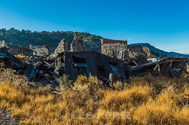 Ruins of Old Buildings in Belmont, Nevada