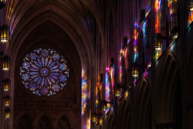 Stained Glass Projections in the Nave